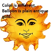 "34"" Megaloon Smiley Sun Shape Balloon"