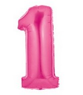 "40"" Large Number Balloon 1 Pink"