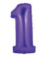 "40"" Large Number Balloon 1 Purple"