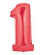 "40"" Large Number Balloon 1 Red"