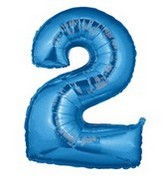 Bargain Balloons - Jumbo+Number+Balloon Mylar Balloons and Foil