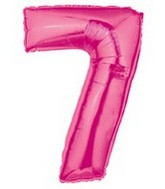 "40"" Large Number Balloon 7 Pink"