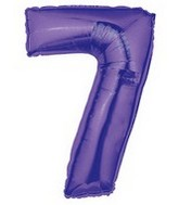 "40"" Large Number Balloon 7 Purple"