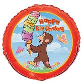 "18"" Curious George Birthday (Sold Packaged)"