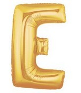 "40"" Large Letter Balloon E Gold"