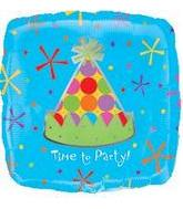 "32"" Square Time To Party Hat"
