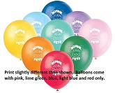 "11"" 50CT Bonne Fete Cake Latex Balloons"