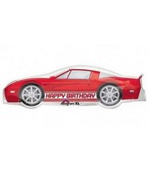 "41"" Happy Birthday Red Sports Car Mylar Balloon"