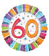 "18"" Radiant Prismatic 60th Birthday Balloon"