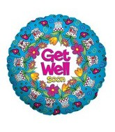"9"" Airfill Get Well Flower Pots Balloon"