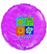 "18"" You&#39re so special Sun Butterflies Flower Pink background"