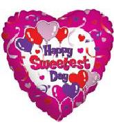 "18""  Happy Sweetest Day Pink Heart"