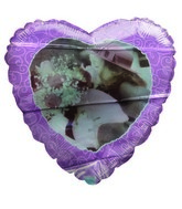 "18"" Heart Shaped Love Themed Pink Mylar Balloon"