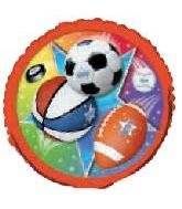 "18"" Super Sports Mylar Balloons"