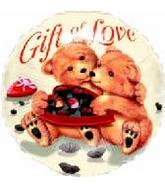 "18"" Gift Of Love Bears Mylar Balloon"
