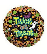 "18"" Trick or Treat Candy Mylar Balloon"