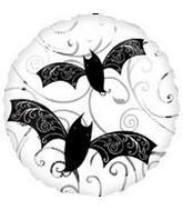 "18"" Swirly Bats Mylar Balloon"