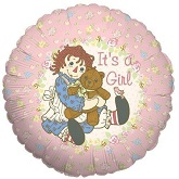 "18"" It's A Girl Raggedy Ann"