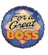 "18"" For A Great Boss Mylar Balloon"