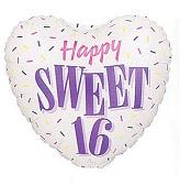 "18"" Sweet 16 One Sided Balloon"