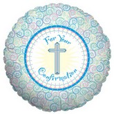 "18""  Pastel Confirmation Mylar Balloon"