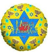 "18"" Happy Hanukkah Yellow"