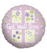 "18"" Get Well Purple and Sage"