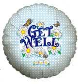 "18"" Get Well Daisies Balloon"