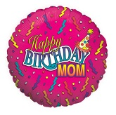 "18"" Happy Birthday Mom Streamers"