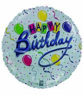 "18"" Happy Birthday Streamers Balloons"