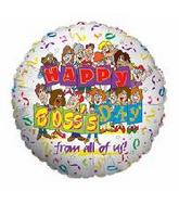 "9"" H. Boss Day From All of Us Airfill Mylar Balloon"