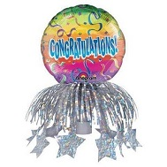 "9"" Congratulations Rainbow Bottle Topper"