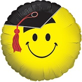 "18"" Yellow Smiley Grad"