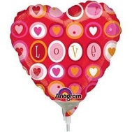 "18"" Love Hearts And Circles Balloon"