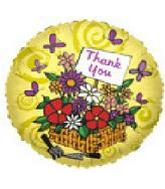 "9"" Airfill Flower Basket Thank You"