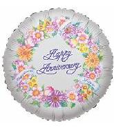 "18"" Happy Anniversary Floral Wreath"