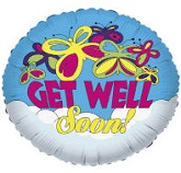 "36"" Get Well Buttefly Balloon"