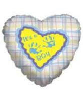 "18"" It&#39s A Boy Hand Print Balloon"