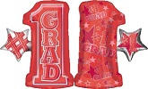"28"" #1 Grade Shape Red Mylar Balloon"