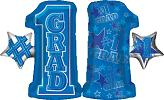 "28"" #1 Grade Shape Blue Mylar Balloon"