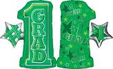 "28"" #1 Grade Shape Green Mylar Balloon"