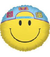 "36"" Smiley With Cap Balloon"