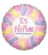 "18"" Es Nina Footprints Mylar Balloon"
