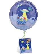 "18"" Decorate Balloon Space with Stickers Weight"