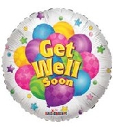 "18"" Get Well Soon Many Balloon"