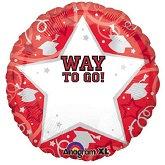 18&#39&#39 Personalized Way To Go Grad Red