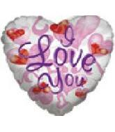 "36"" I Love You Large White Melted Heart"