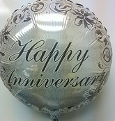 "18"" Happy Anniversary Silver"