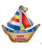 "13"" Airfill Birthday Sailboat Shape"