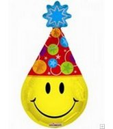 "13"" Airfill Smile Face Party Hat M747"